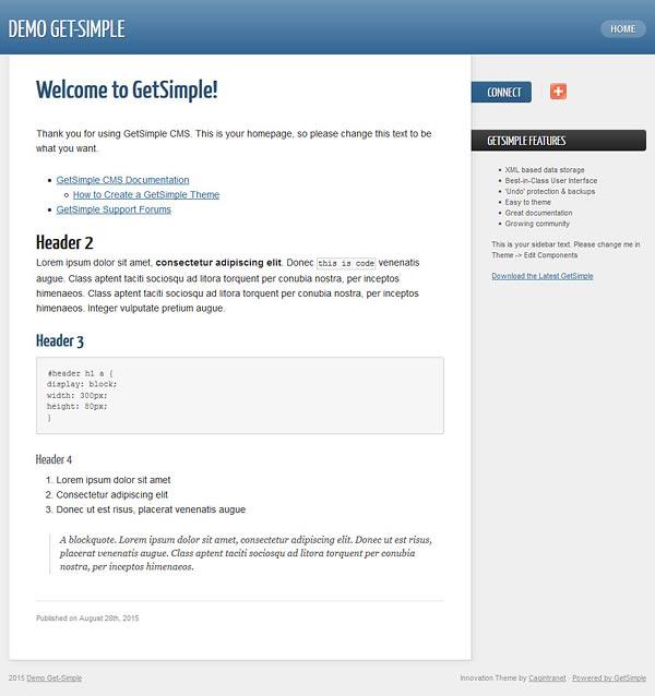 Get-Simple domyślny szablon serwisu